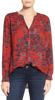 Women's Lucky Brand Vintage Print Top $99 thestylecure.com