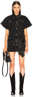 Givenchy Marble Wash Short Sleeve Denim Jacket