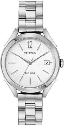 DRIVE FROM CITIZEN ECO-DRIVE Drive from Citizen Womens Silver Tone Bracelet Watch-Fe6140-54a