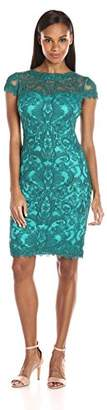 Tadashi Shoji Women's Corded Lace Cap-Sleeve Dress $163.99 thestylecure.com