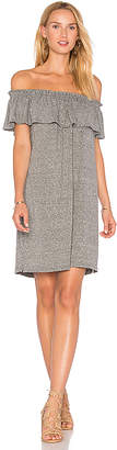 Current/Elliott The Ruffle Dress in Gray $168 thestylecure.com