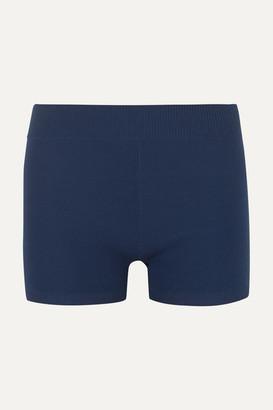 Nagnata - Technical Stretch-organic Cotton Shorts - Navy
