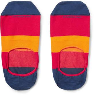 Marcoliani Invisible Touch Striped Stretch Cotton-Blend No-Show Socks