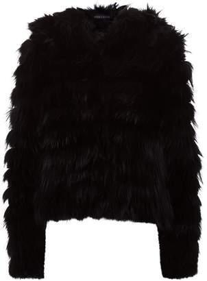Alice + Olivia Nadia Hooded Fur Jacket