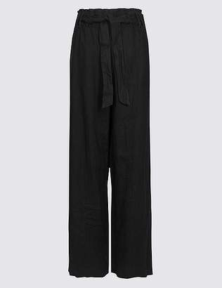 Marks and Spencer Pure Linen Wide Leg Trousers