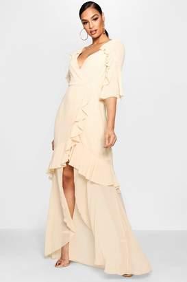 boohoo Chiffon Ruffle Maxi Dress