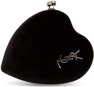 Saint Laurent Love Box velvet heart cross-body bag