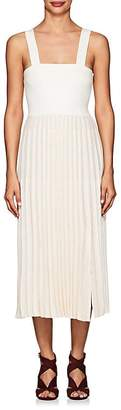 Derek Lam 10 Crosby Women's Compact Knit Cotton Pleated Dress
