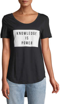 Knit Riot Knowledge Is Power Slogan Tee