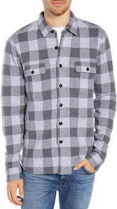 Faherty Belmar Buffalo Check Button Front Sweater