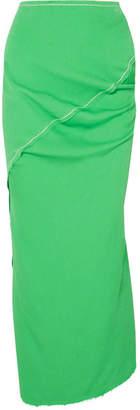 Marni Asymmetric Crepe Maxi Skirt - Green