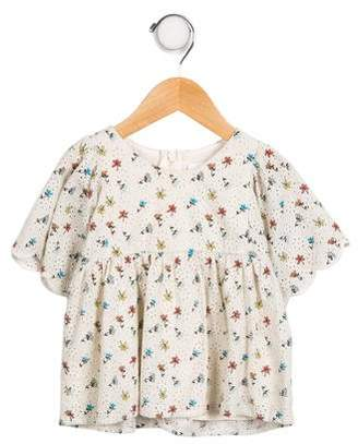 Chloé Girls' Printed Short Sleeve Top