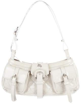 Burberry Quilted Patent Leather Shoulder Bag