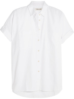 Madewell - Courier Cotton-twill Shirt - White $65 thestylecure.com