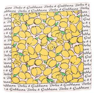 Dolce & Gabbana 2016 Lemon Print Scarf