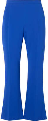 Antonio Berardi Cropped Stretch-cady Flared Pants - Blue