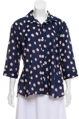 Steven Alan Floral Print Button-Up Top