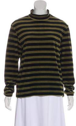 Golden Goose Striped Velvet Top