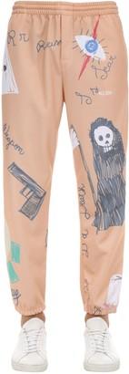 Klsh Kids Love Stain Hands Printed Cotton Sweatpants