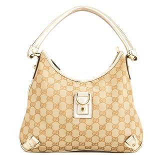 Gucci Gold GG Monogram Abbey D-Ring Hobo (3982008)