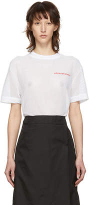 Alexander Wang White Mesh T-Shirt