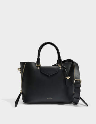 MICHAEL Michael Kors Blakely Medium Tote Bag in Black Viola Leather