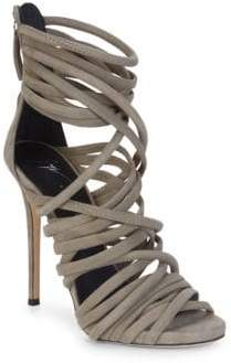 Giuseppe Zanotti Alien Leather Strappy Sandals