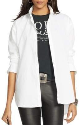 Polo Ralph Lauren Hi-Lo Hem Poplin Shirt