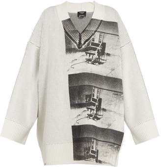 Calvin Klein Andy Warhol-print V-neck sweater