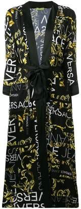Versace all over logo kimono coat