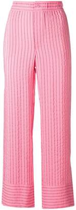 Ganni striped cropped trousers