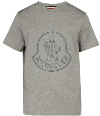 Moncler 2 1952 - Logo Embroidered T Shirt - Mens - Grey
