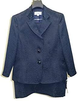 Le Suit Women's 3 Button Jacquard Jacket and Skirt Suit Set with Notch Collar