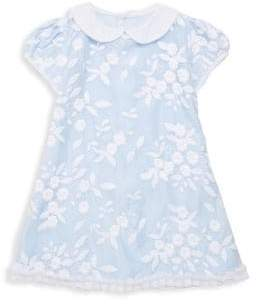 Isabel Garreton Little Girl's Embroidered Floral Organza Dress