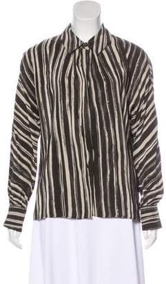 Kelly Wearstler Striped Silk Top