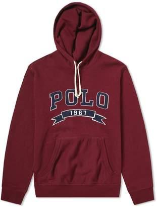 Polo Ralph Lauren Varsity Applique Logo Popover Hoody