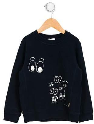 Paul Smith Boys' Graphic Print Crew Neck Sweatshirt