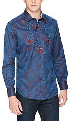 Robert Graham Men's Imprint Long Sleeve Classic FIT Shirt