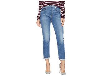 7 For All Mankind High-Waisted Josefina w/ Rolled Hem in Pretty District Row