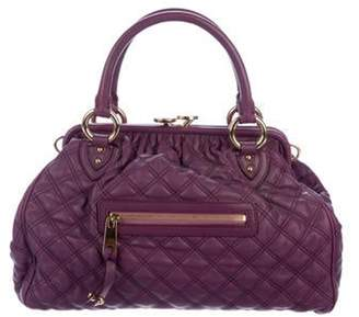 Marc Jacobs Quilted Leather Stam Bag Violet Quilted Leather Stam Bag