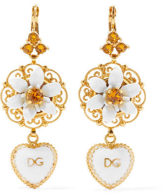 and by gabbana medium gold earrings operandi dolce moda chandelier