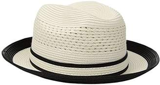 Country Gentleman Men's Noah Vented Fedora Hat With Two Tone Brim