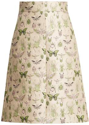 RED Valentino Bug jacquard A-line skirt