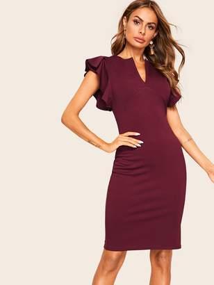 Shein Ruffle Embellished Form Fitting Dress