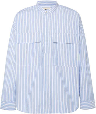 Fear Of God Striped Cotton-Oxford Henley