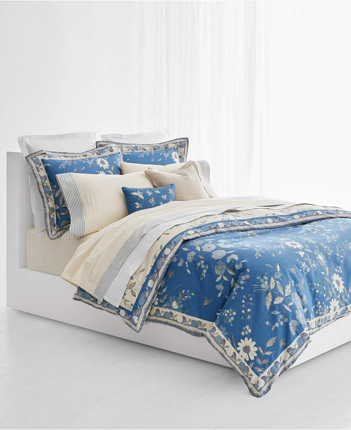 Josephina Cotton Sateen 300-Thread Count Reversible 3-Pc. Floral King Duvet Cover Set Bedding