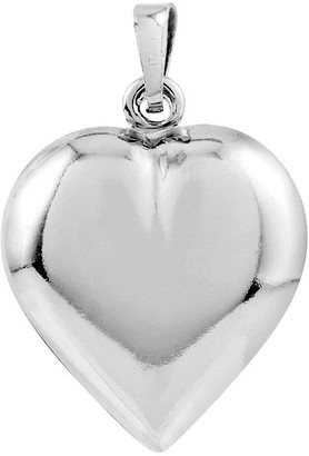 Sterling Polished Puffed Heart Pendant