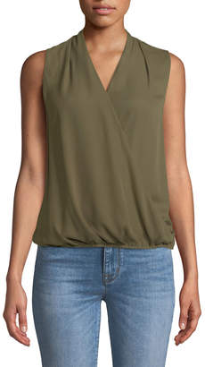 Tahari ASL Namara Sleeveless Draped Blouse