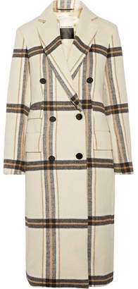 By Malene Birger Gritt Double-breasted Plaid Brushed-felt Coat