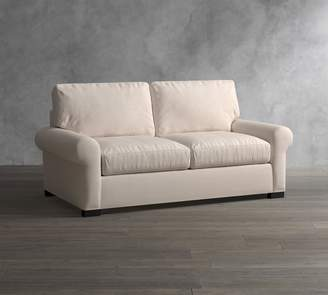 Pottery Barn Turner Roll Arm Upholstered Deluxe Sleeper Sofa